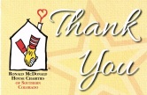 Ronald McDonald Thank You Flyer - Cropped