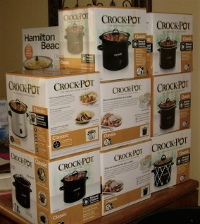 Crock Pots for PIH Every Mother Matters celebration