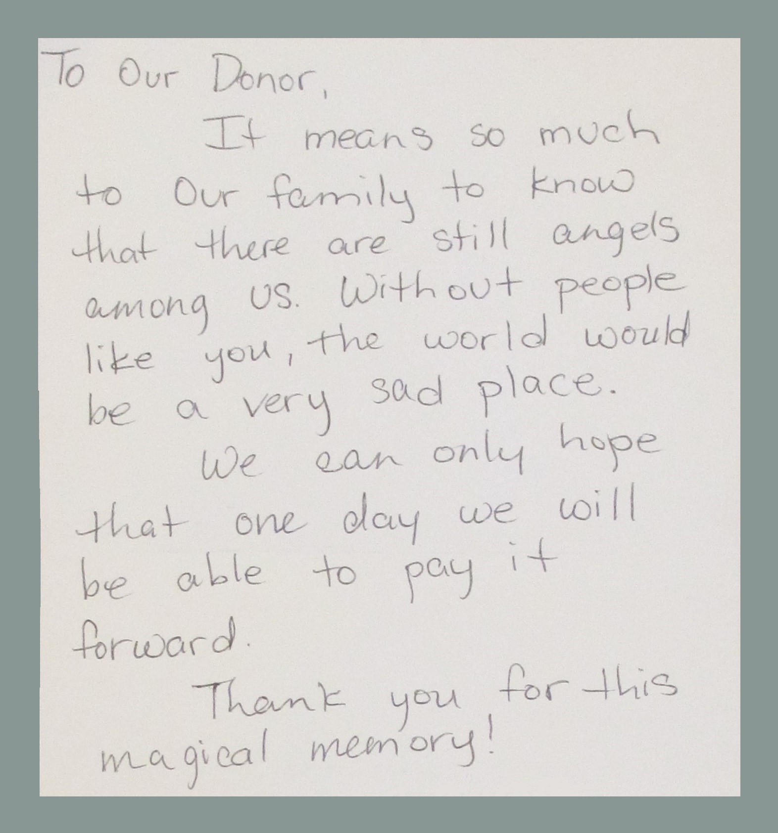 CPCD adopted family thank you letter – The Woman's Club of