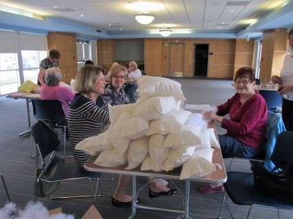 Volunteer Week - Comfort Pillows; WCCS in 2017