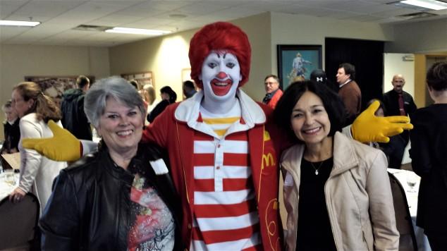 WCCS members with Ronald McDonald