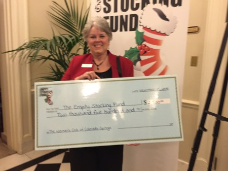 Big Check for Empty Stocking Fund