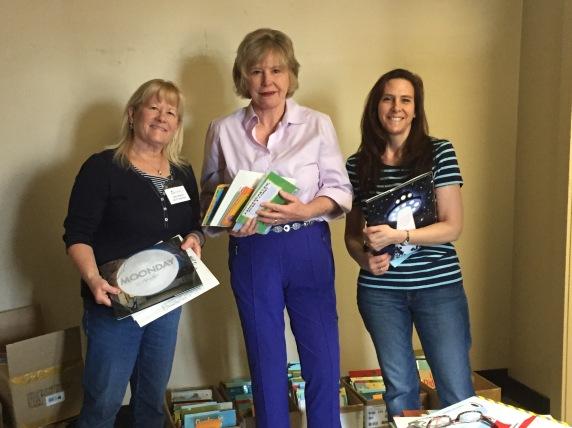 WCCS members sort books