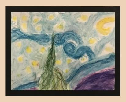 Starry Night Redone - 4th Grade Entry