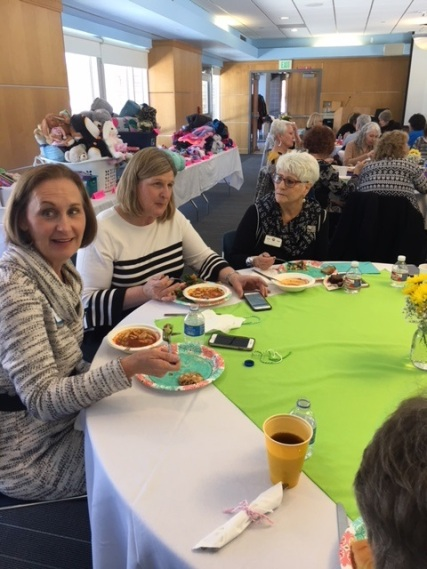 Guests enjoying the Fair Trade lunch