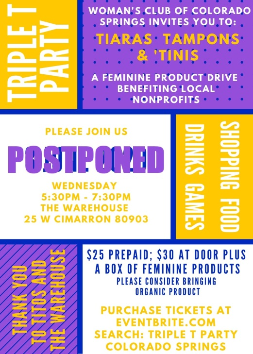 Triple T Party 2020 Invitation - POSTPONED
