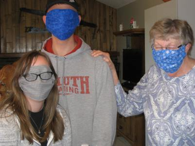 Giving Back From Home - making masks
